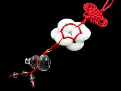 6 White Jade tied with a Red String. You need not have the Wu Lou at the end.