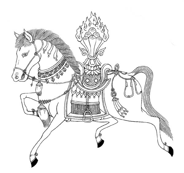 The Windhorse or Lung-Ta is another powerful Buddhist symbol that brings success and prosperity. For those who wants to get a promotion or advancement in their career or business having the Windhorse around your body will aid you to achieve this dream. Also the Lung-Ta or Windhorse may bring travel luck.