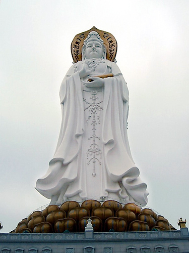 The biggest image of Kuan Yin in the world is in China.