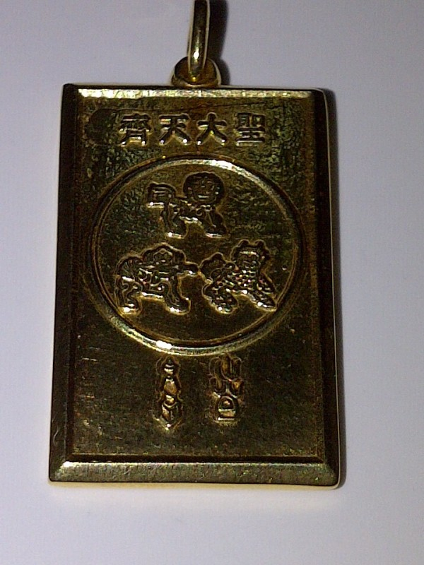 Back side of the WEALTH AND MASTER PROTECTION PENDANT.