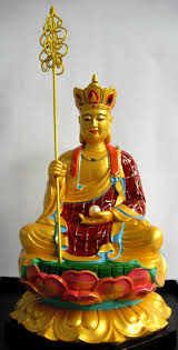 Again, if using an image of Ksitigarbha at home, I prefer to use the one with the crown, unless, he is placed the ancestral altar.