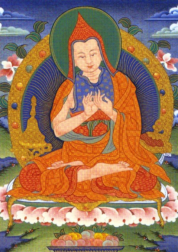 A Thangka image of Lama Atisha.