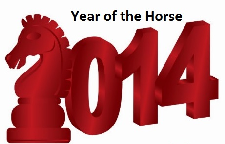 2014 Year of the Wood Horse Chinese Animal Zodiac Feng ...