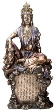 This is an image of a Kuan Yin with the Heart Sutra.